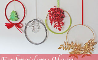 how to make embroidery hoop christmas wreaths, christmas decorations, crafts, seasonal holiday decor, wreaths