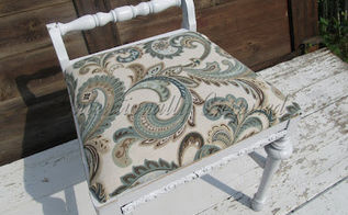 low cost curbside stool recycle, painted furniture, reupholster