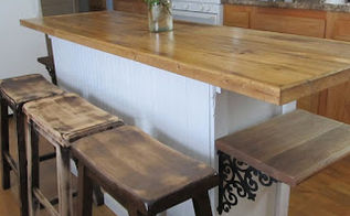 how to turn buffet into cool rustic farmhouse island, kitchen design, kitchen island, painted furniture, repurposing upcycling, woodworking projects