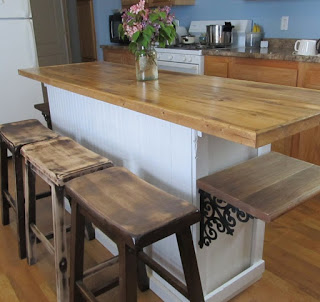 Vintage Built in Buffet Turned Into Cool Rustic Farmhouse Island ...