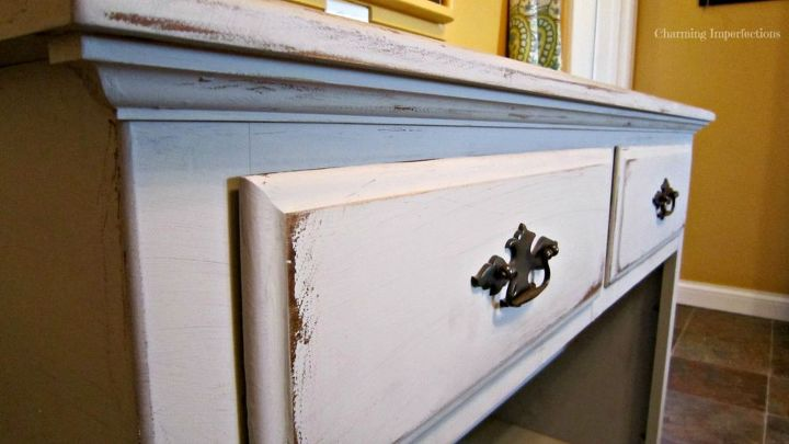 how to turn a hutch into a kitchen buffet, chalk paint, kitchen design, painted furniture, repurposing upcycling