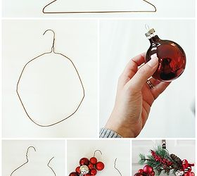 How to Make a Christmas Ornament Wreath With a Wire Hanger | Hometalk