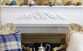 http designthusiasm com country french chanukah tea decor, fireplaces mantels, home decor, living room ideas, seasonal holiday decor