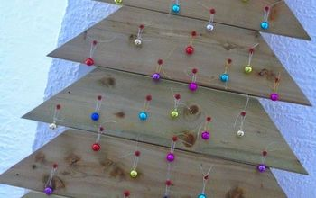 diy plank christmas tree, christmas decorations, crafts, seasonal holiday decor, woodworking projects