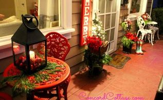 christmas porch decor, christmas decorations, crafts, painted furniture, porches, seasonal holiday decor, wreaths