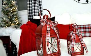 christmas cottage livingroom, christmas decorations, repurposing upcycling, seasonal holiday decor, reupholster