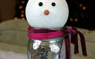 snowman mason jar gift, christmas decorations, crafts, mason jars, repurposing upcycling, seasonal holiday decor