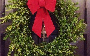 diy boxwood wreath for 13, christmas decorations, crafts, seasonal holiday decor, wreaths