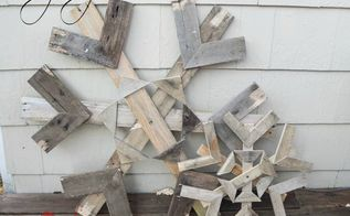 how to make snowflakes from re purposed pallets, christmas decorations, crafts, pallet, repurposing upcycling, seasonal holiday decor, woodworking projects