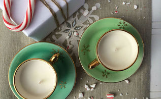 how to make teacup candles, christmas decorations, crafts, repurposing upcycling, seasonal holiday decor