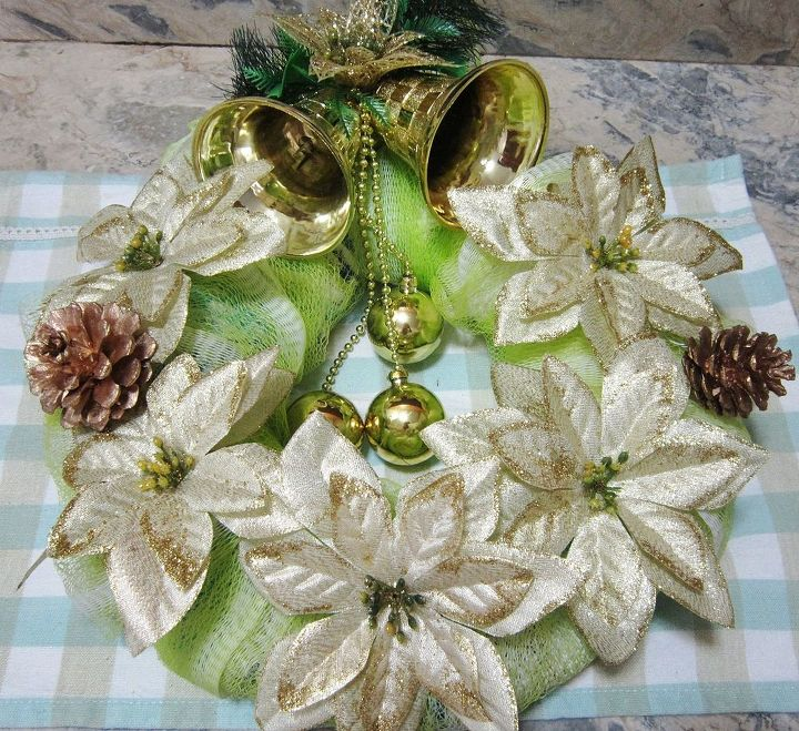 how to make a wreath using bathroom essentials, christmas decorations, crafts, repurposing upcycling, seasonal holiday decor, wreaths