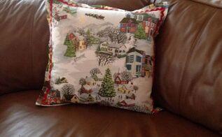 how to make pillows using pottery barn napkins, christmas decorations, crafts, repurposing upcycling, seasonal holiday decor, reupholster
