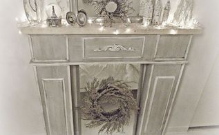 diy faux fireplace, diy, fireplaces mantels, home decor, how to, living room ideas, painting