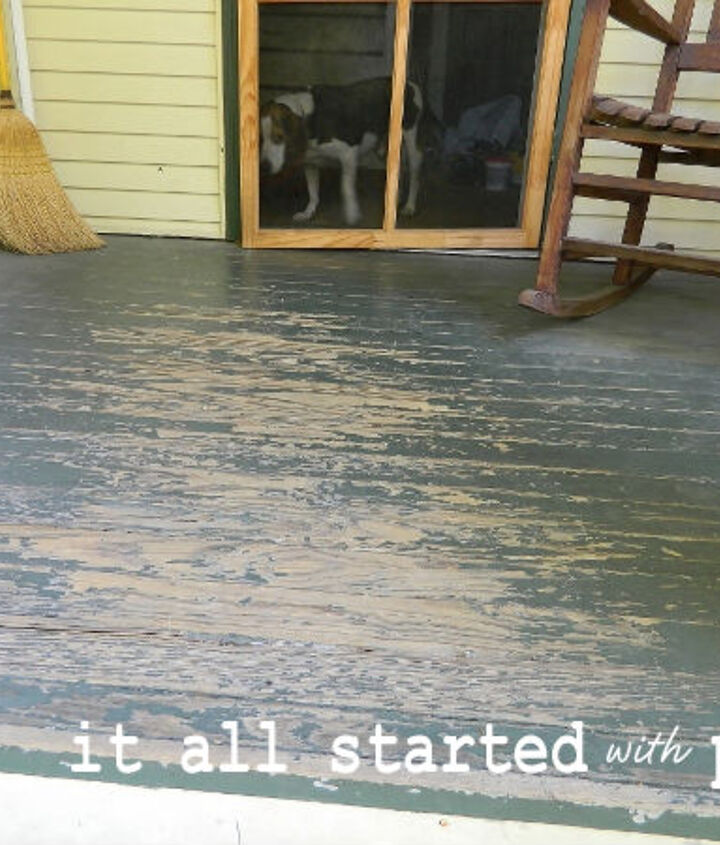 how to paint a diamond rug on wood floor, flooring, how to, painting, porches