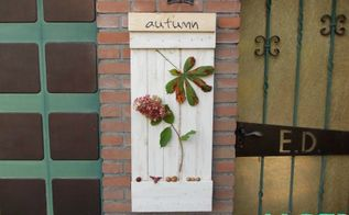 four seasons sign from wood pallets autumn, crafts, pallet, seasonal holiday decor, woodworking projects