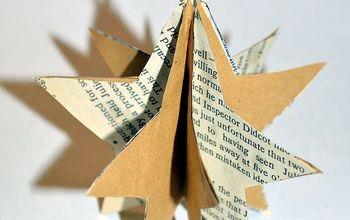 diy easy paper stars ornaments, christmas decorations, crafts, repurposing upcycling, seasonal holiday decor
