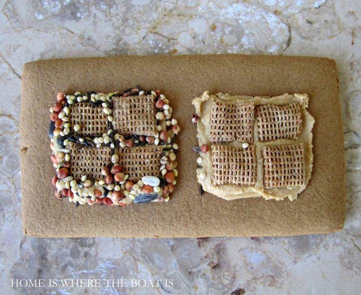 create a gingerbread house bird feeder, crafts, outdoor living
