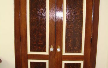 A Dramatic Door Makeover With Fake Wood Grain Stencil