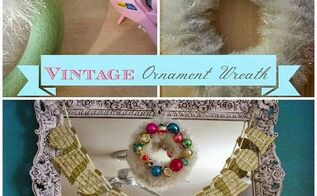 diy vintage ornament wreath, christmas decorations, crafts, seasonal holiday decor, wreaths