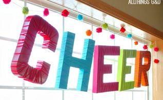 diy pom pom garland, christmas decorations, crafts, how to, repurposing upcycling, seasonal holiday decor