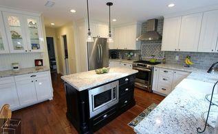 orange kitchen remodel with custom cabinets, countertops, home improvement, kitchen cabinets, kitchen design, kitchen island, storage ideas