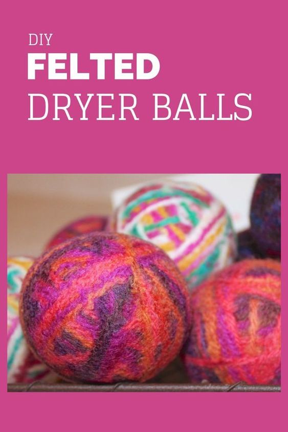 felted dryer balls, cleaning tips, crafts, laundry rooms, repurposing upcycling