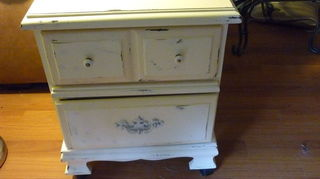 , This is a night stand I did with distressing