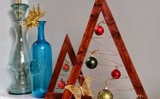a crate barrel hack wooden ornament tree, christmas decorations, crafts, diy, repurposing upcycling, seasonal holiday decor, woodworking projects