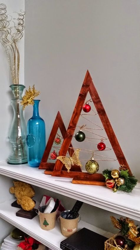 a crate barrel hack wooden ornament tree christmas decorations crafts diy repurposing - Crate And Barrel Christmas Decorations