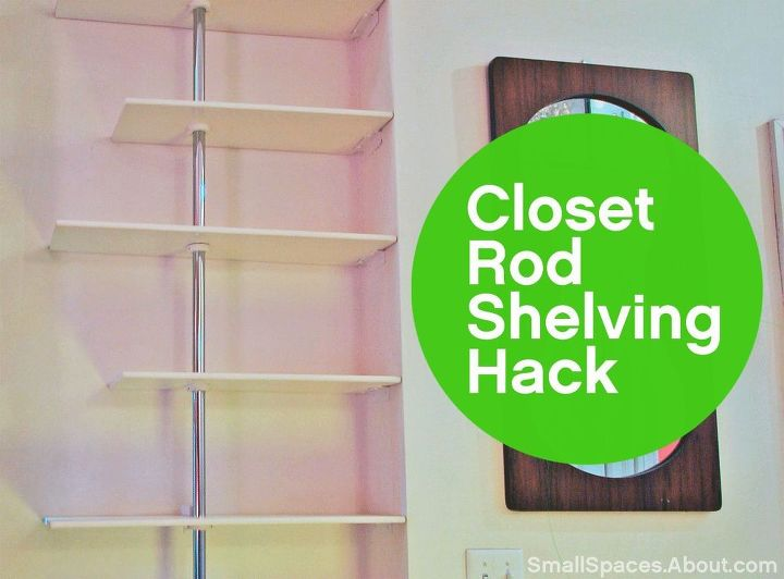 use closet rods to create a custom fit shelving unit closet shelving ideas