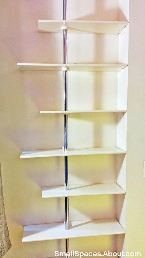 use closet rods to create a custom fit shelving unit, closet, shelving ideas, storage ideas