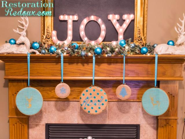 diy 5 golden rings, christmas decorations, crafts, fireplaces mantels, seasonal holiday decor