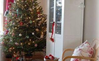 red white rustic christmas home decor, christmas decorations, seasonal holiday decor