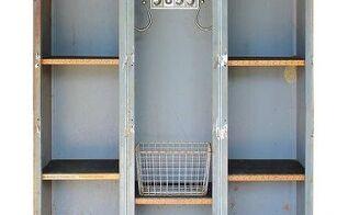 upcycled custom triple locker bookcase, organizing, repurposing upcycling, shelving ideas, storage ideas