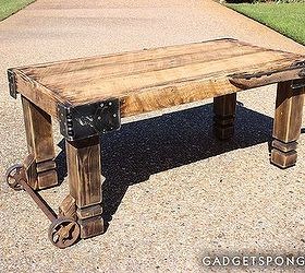 Horse Hame And Caster Barn Wood Coffee Table, Living Room Ideas,  Repurposing Upcycling,