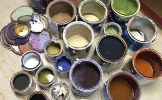 how to dry out old paint for disposal, go green, home maintenance repairs, how to