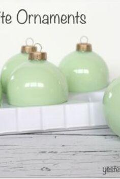 diy jadeite ornaments, christmas decorations, crafts, seasonal holiday decor
