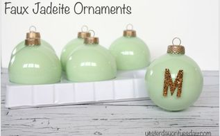 diy jadeite ornaments, christmas decorations, crafts, seasonal holiday decor