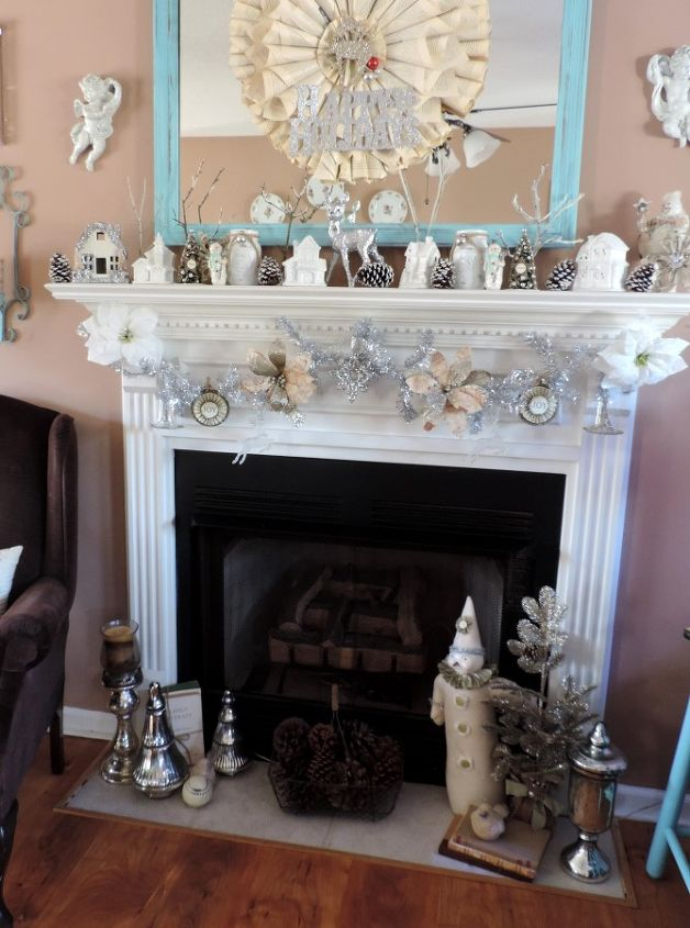 french country christmas mantel christmas decorations crafts fireplaces mantels mason jars