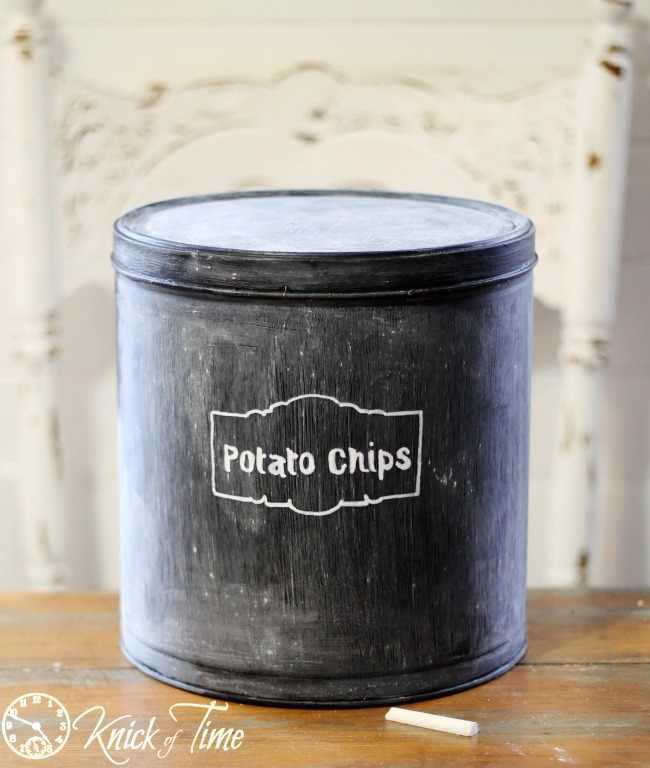 turn those christmas tins into pantry storage, chalk paint, organizing, repurposing upcycling, storage ideas