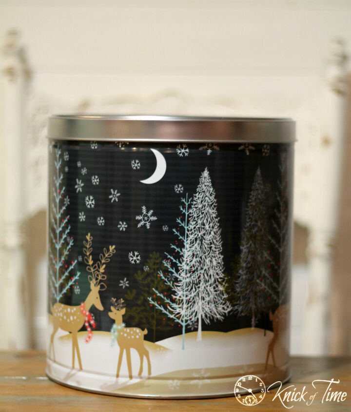 turn those christmas tins into pantry storage, chalk paint, organizing, repurposing upcycling, storage ideas