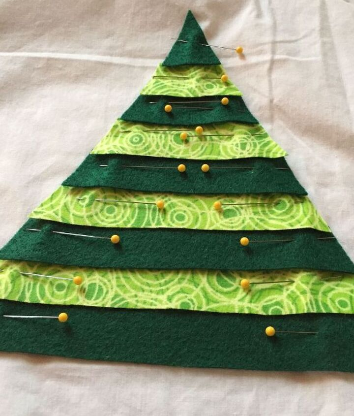 christmas tree fringe pillow, christmas decorations, crafts, how to, seasonal holiday decor, reupholster