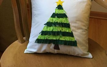 Christmas Tree Fringe Pillow