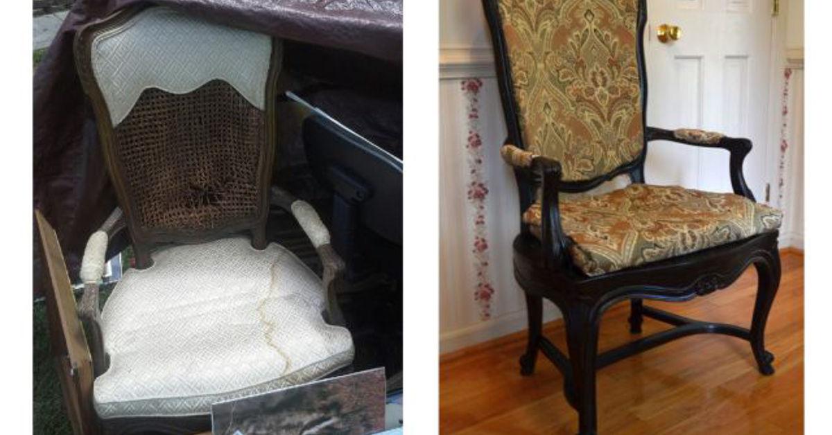 - Garage Sale Find Antique Chair Reupholster Hometalk