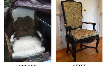 Garage Sale Find: Antique Chair Reupholster