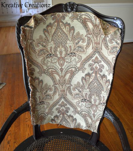 garage sale find antique chair reupholster, diy, painted furniture,  repurposing upcycling, reupholster - Garage Sale Find Antique Chair Reupholster Hometalk