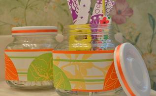 diy beauty storage jars, bathroom ideas, crafts, organizing, small bathroom ideas, storage ideas