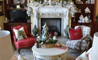 wintery christmas mantel decor, christmas decorations, fireplaces mantels, living room ideas, seasonal holiday decor