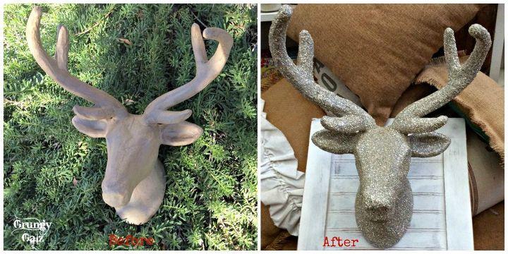 Famous DIY German Glass Glitter Deer Head | Hometalk XF73