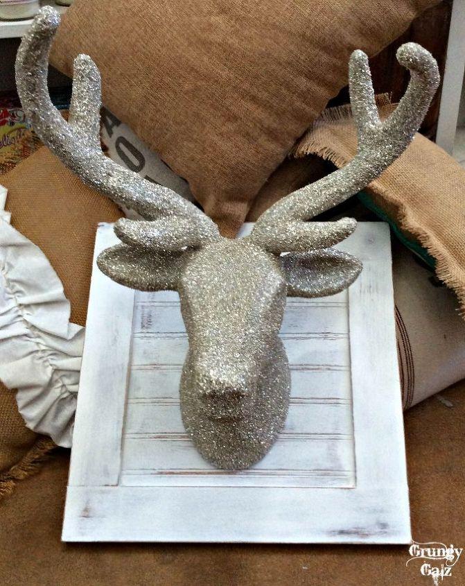 Popular DIY German Glass Glitter Deer Head | Hometalk ER31